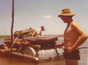 Shakwe and Bruce Barichievy with the raft.
