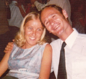 Greetje at a 1972/3 New Years Eve dance, Swaziland.