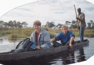 traditional mokoro dugout canoe