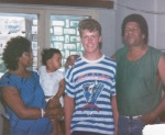 Nicholas Simkin with Tomas and family, Maputo