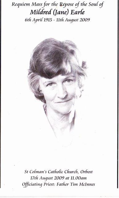 Jane Earle 1915-2009